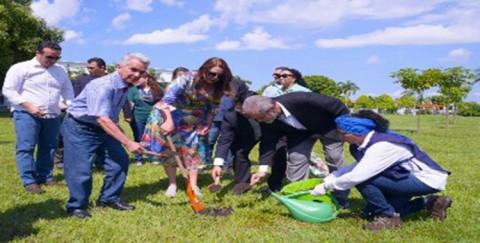 No dia da Árvore, governadora do RR faz plantio de pau Brasil nos jardins do Palácio Senador Hélio Campos