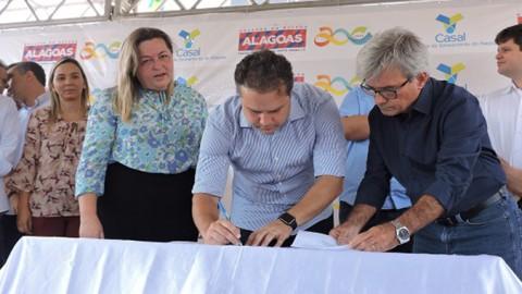 Casal e Governo assinam ordem de serviço e anunciam novos investimentos para Passo de Camaragibe (AL)