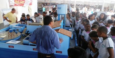 Maquete de Estação de Tratamento de Água da Caema encanta visitantes da 11.ª FeliS