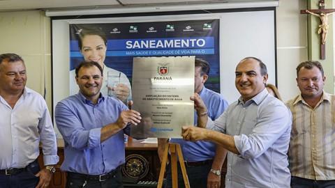 Sanepar entrega obras e anuncia investimentos no Sudoeste do Paraná
