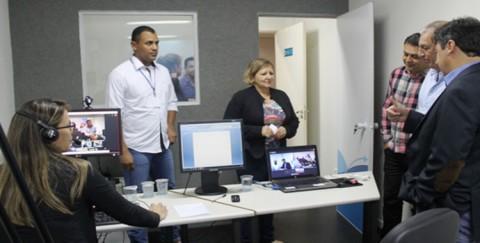 Sala de vídeo conferência é inaugurada na Sanesul