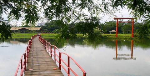 Obras estão em andamento no Parque Centenário da Imigração Japonesa, no Paraná