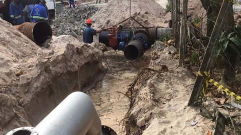 Obra da Compesa leva melhorias no abastecimento de água para Candeias e Barra de Jangada