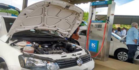 Sabesp começa a abastecer carros em Franca (SP) com os gases do tratamento de esgoto
