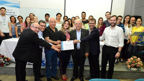 Laboratório de Esgoto recebe Certificado de Reconhecimento da Rede Metrológica de Goiás