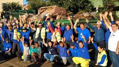 Sanepar promove ação ambiental em Santo Antônio da Platina, no interior do Paraná