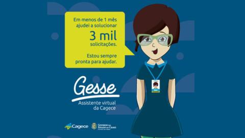 Assistente virtual da Cagece realiza quase 3 mil atendimentos no Ceará