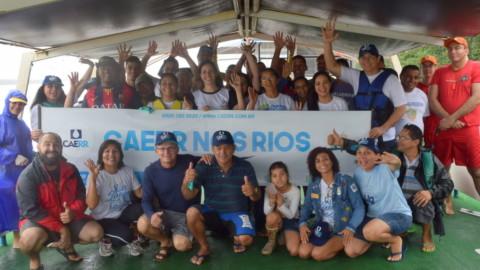 CAERR NOS RIOS – Voluntários participam de ação realizada em prol da preservação do meio ambiente em Roraima