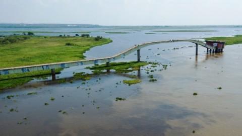 Captação de água da Sanesul no Rio Paraguai ganha os olhares dos apaixonados pela arte, em Mato Grosso do Sul