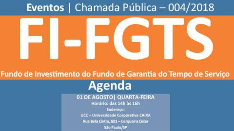 Caixa Econômica convida para encontro para tirar dúvidas sobre a Chamada Pública do FI-FGTS
