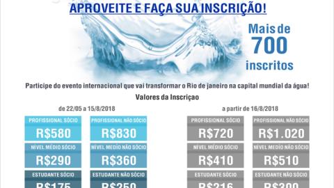 Rio Water Week: hoje é o último dia para inscrição com desconto!