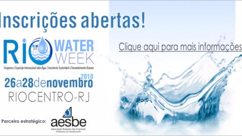 Rio Water Week será realizado pela Abes em novembro deste ano