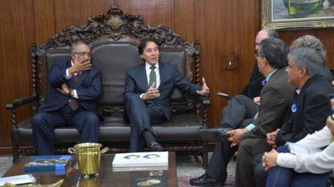 Representantes do setor de saneamento se reúnem com presidente do Congresso Nacional para falar sobre a MP do Saneamento