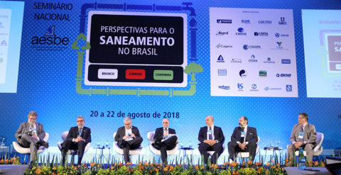 Impactos da MP 844/2018 no setor de saneamento abrem as discussões do segundo dia do evento da Aesbe