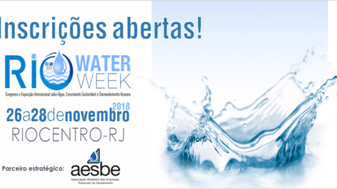 Inscrições com valores promocionais para a Rio Water Week estão disponíveis até 15 de agosto