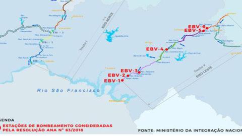 Resolução da ANA aprova rateio da água do Eixo Leste do Projeto de Integração do Rio São Francisco com os Estados da Paraíba e Pernambuco