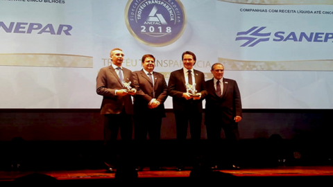Sanepar vence o Troféu Transparência Anefac 2018
