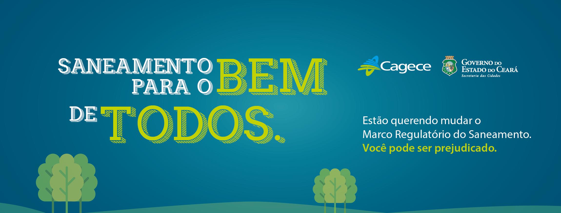 Carta aberta: Governo do Ceará manifesta preocupação com mudança na Lei do Saneamento