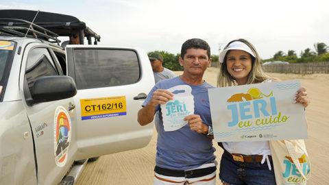 Alta estação: Cagece alerta turistas para preservação ambiental em Jericoacora (CE)