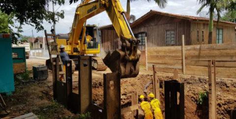 Obras de implantação da rede saneamento básico são retomadas em Lauro Müller (SC)