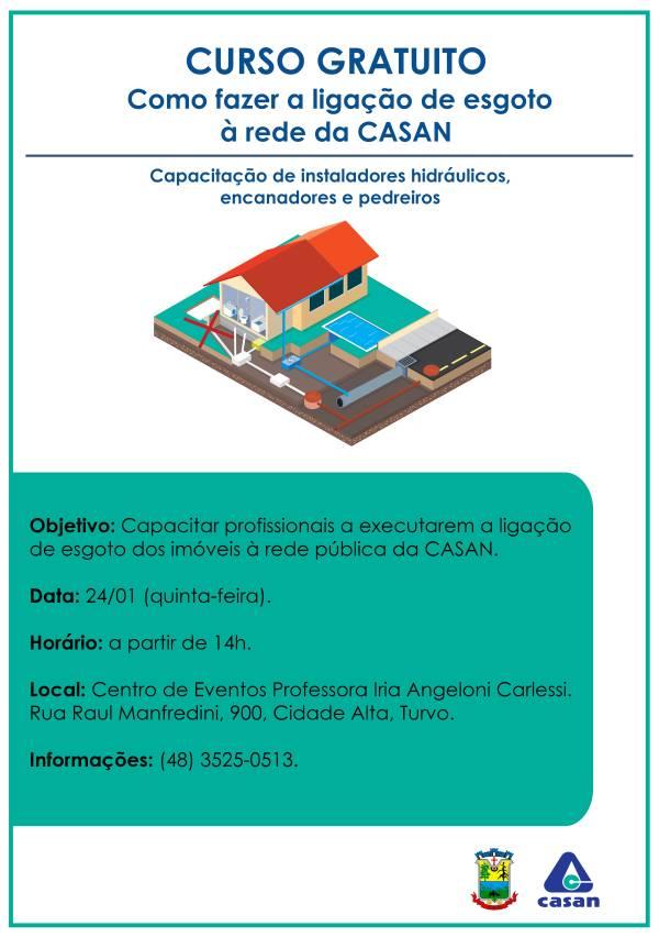 Casan oferece curso gratuito para encanadores em Santa Catarina