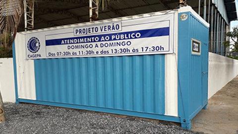 Cagepa instala posto de atendimento para veranistas e turistas na praia de Camboinha (PB)