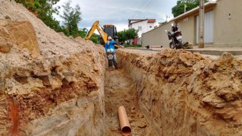 Agespisa executa 50% da obra de esgotamento sanitário de Piripiri, no Piauí