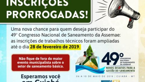 49º Congresso da Assemae: inscrições de trabalhos prorrogadas até 28/02