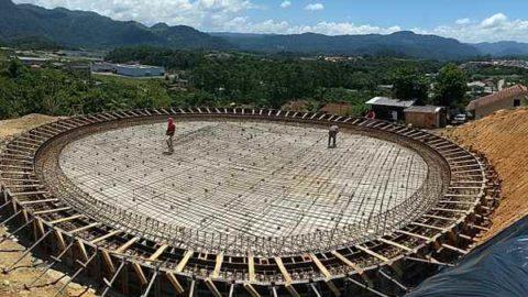 Casan avança com obras do reservatório vitrificado de Indaial (SC)