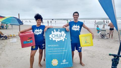 Recreação na praia: Sanepar investe em diversão para ensinar sobre o meio ambiente