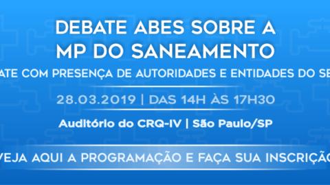 ABES reunirá governo e entidades do saneamento para debate sobre a MP 868 na quinta-feira, em São Paulo