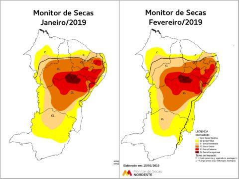 Área sem seca relativa no Ceará volta a crescer em fevereiro, mas situação dos açudes ainda é crítica