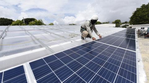 Cagece investe em planta de energia solar para produção de energia limpa, em Fortaleza (CE)