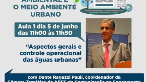 Curso gratuito sobre Saneamento Ambiental para jornalistas iniciará nesta quarta-feira
