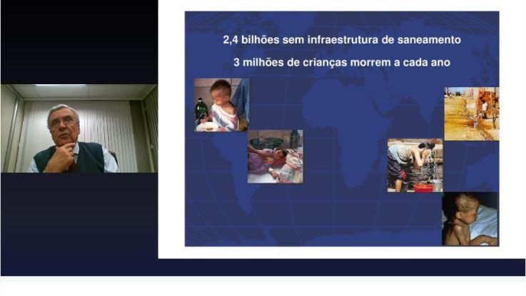 Curso online para jornalistas: Benedito Braga, presidente da Sabesp, aborda a segurança hídrica global em aula de encerramento