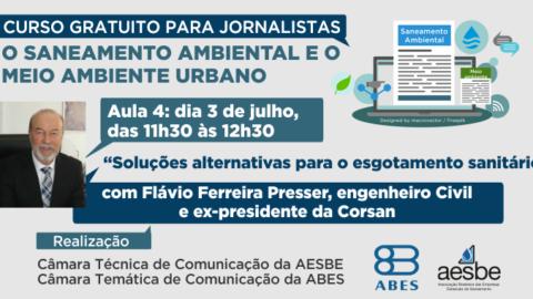 """Nesta quarta-feira, ex-presidente da Corsan fala sobre """"Soluções alternativas para o esgotamento sanitário"""""""