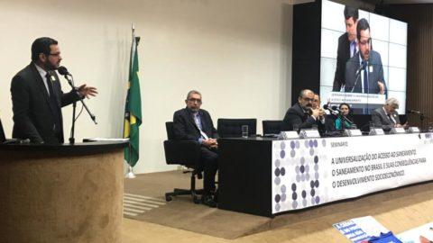 Aesbe participa de Seminário da Câmara dos Deputados que discute universalização do acesso ao saneamento