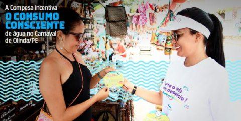 Compesa incentiva consumo consciente de água no carnaval em Olinda/PE