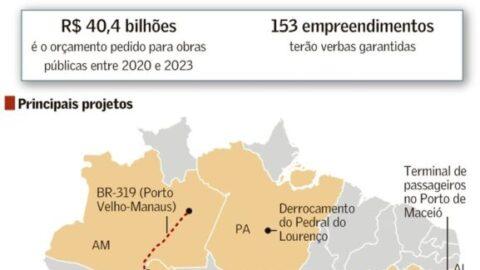 Infraestrutura aposta em 153 obras e nove projetos de lei no Pró-Brasil