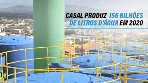 Casal produz 156 bilhões de litros de água em 2020