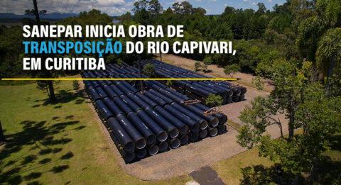 Sanepar inicia obra de transposição do Rio Capivari, em Curitiba