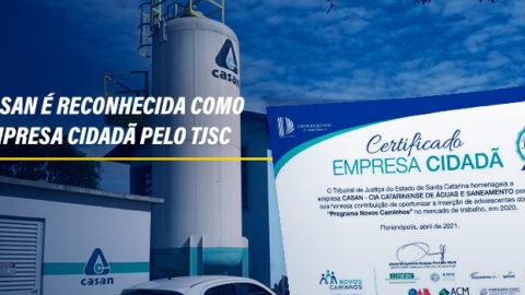 Casan é reconhecida como empresa cidadã pelo TJSC